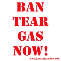 Ban Tear Gas Now! logo. Suzanne Skaar. 2011.