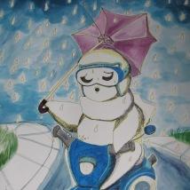 Suzanne Skaar. Rain. Ink, Watercolor, Paper.