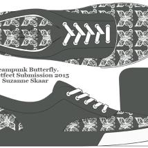 "Bucketfeet Submission: ""Steampunk Butterfly."" Suzanne Skaar. Digital Media. 2015."