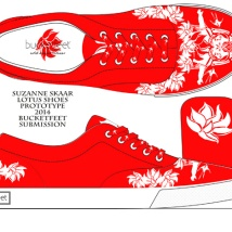 """Lotus Shoes."" Suzanne Skaar. Submission to Bucketfeet. 2014."