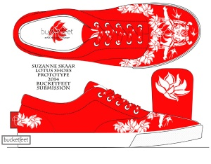 """""""Lotus Shoes."""" Suzanne Skaar. Submission to Bucketfeet. 2014."""