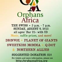 Benefit poster for Orphans Africa. Suzanne Skaar. Digital Media. 2015.