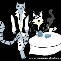 """Cats and Tea."" Suzanne Skaar. 2013. Digital Media."