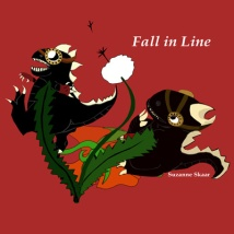 """Would look lovely as a 12 x 12 print on your loved one's wall, oui? """"Fall in Line,"""" Suzanne Skaar. Digital Media 2014."""