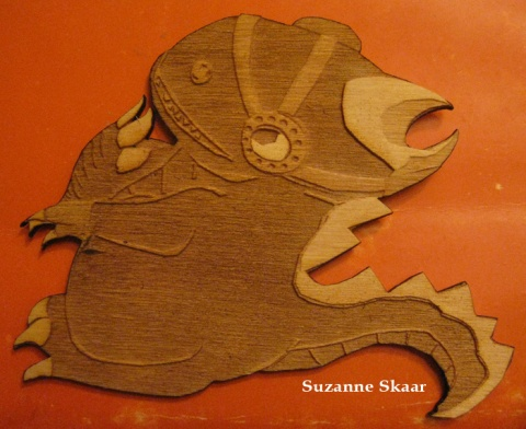 Dinosaur Woodcut (Fun with Lasers!)
