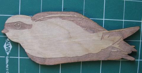 Swallow Woodcut