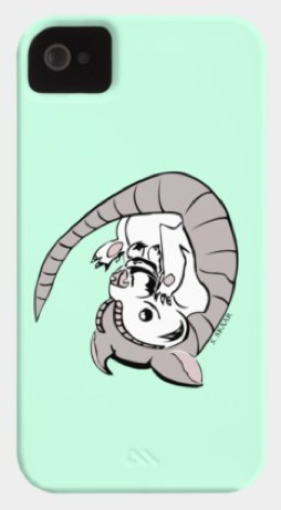 """""""Armadillo"""". Suzanne Skaar.  Phone Case. Available in multiple formats at Design by Hümans."""