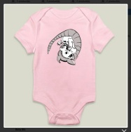 """""""Baby Armadillo."""" Suzanne Skaar. Long-sleeved Onesie Preview. Now available at Boom Boom Prints in multiple formats."""