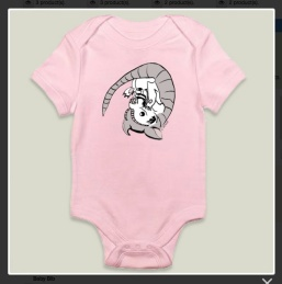 """Baby Armadillo."" Suzanne Skaar. Long-sleeved Onesie Preview. Now available at Boom Boom Prints in multiple formats."