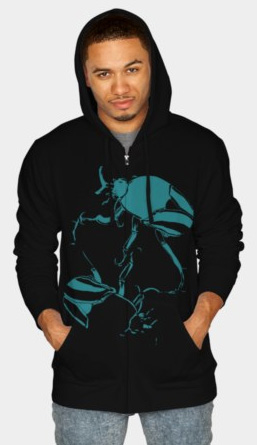 """Beetles"". Suzanne Skaar. Men's Hoodie. Available in multiple formats at Design by Hümans."