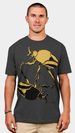 """Beetles"". Suzanne Skaar. Men's T-shirt. Available in multiple formats at Design by Hümans."