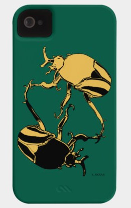 """Beetles"". Suzanne Skaar. Phone Case. Available in multiple formats at Design by Hümans."