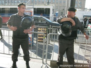 Russian police at Strategy-31 protest, Moscow. 2012. Photo, Suzanne Skaar. All rights reserved.