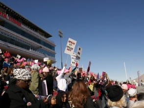 Inside the Stadium at the 2018 las Vegas Women's Rally.